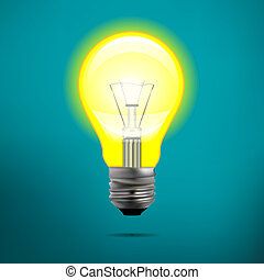 incandescent electric lamp in vector format. Incandescent...