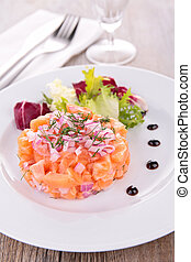salmon, appetizer