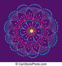 luminant mandala - traditional indian mehndi style flower...