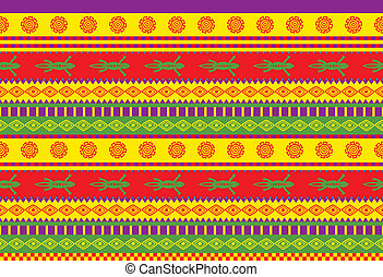 mexican pattern - vivid traditional mexican style seamless...