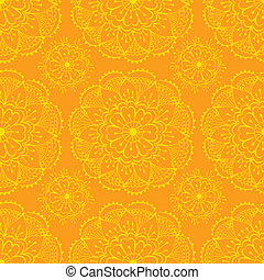sari pattern - bright orange seamless pattern with...
