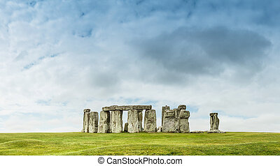 Stonehenge an ancient prehistoric stone monument near...