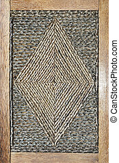 Rhombus decor - Close up shot of decorative rhombus in frame...