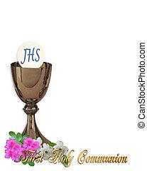 saint, Communion, invitation, fond