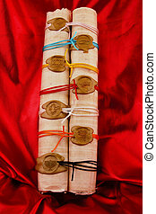 A scroll with seven seals