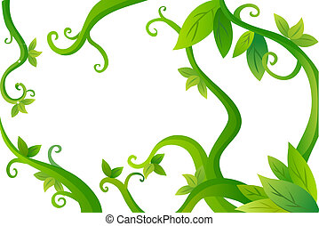 vines and leaves - Vines and leaves. spring background. used...