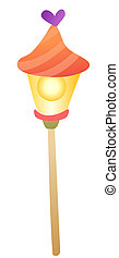 cartoon street lights isolate on a white background