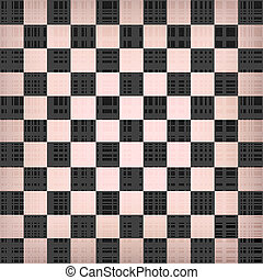 Grunge chessboard vector background. vintage chess Board...