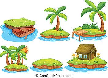 Islands - Illustration of different islands