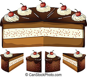 Chocolate cake - Illustration of chocolate cake