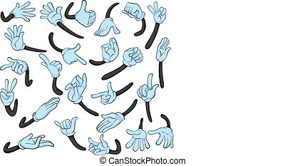 Hand gesture - Illustration of hand with different gestures