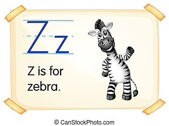 Letter Z - Illustration of a flashcard with letter Z