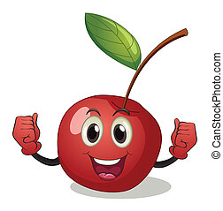 Cherry - Illustration of a cherry with face