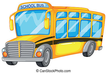 School bus - Illustration of a closeup school bus