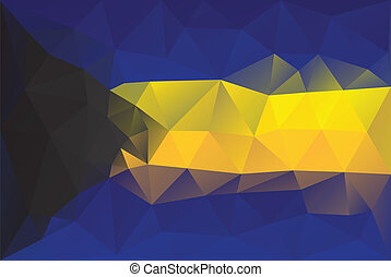 Bahamas flag - triangular polygonal pattern