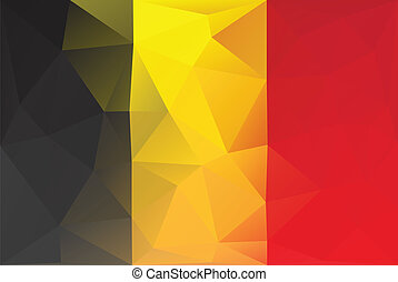 Belguim flag - Belgium flag - triangular polygonal pattern
