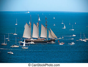 Tallships Regatta in Falmouth UK - the four yearly tall...
