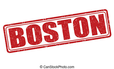 Boston stamp - Boston grunge rubber stamp on white...