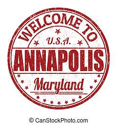 Welcome to Annapolis stamp - Welcome to Annapolis grunge...