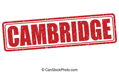 Cambridge stamp - Cambridge grunge rubber stamp on white...