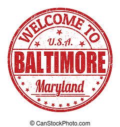 Welcome to Baltimore stamp - Welcome to Baltimore grunge...