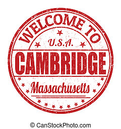 Welcome to Cambridge stamp - Welcome to Cambridge grunge...