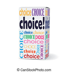 choice word on product box