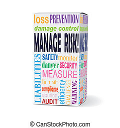 manage risk words on product box with related phrases