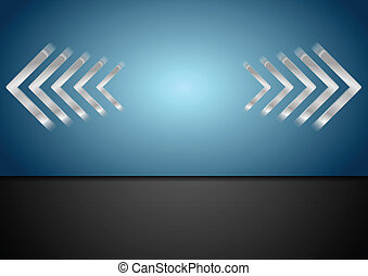Corporate bright arrows background