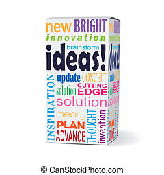 ideas word on product box