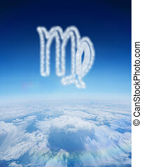 Composite image of cloud in shape of virgo star sign - Cloud...