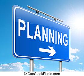 Planning concept.
