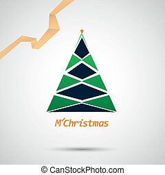 Christmas tree icon on a simple background