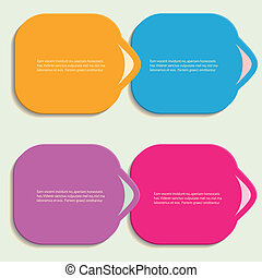 Abstract color vector shapes for your infographics