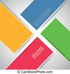 Large colored boxes with blank space for text.