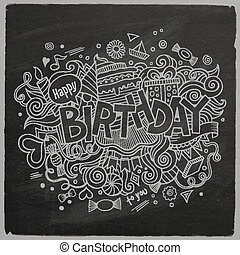 Birthday chalkboard background - Birthday hand lettering and...