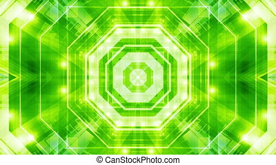 Blue Green Geometric VJ Loop Abstract Animated Background