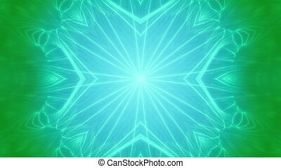 Blue Green VJ Loop Abstract Animated Background