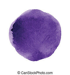 Watercolor paint circle on the white background