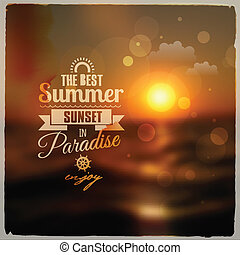 Creative graphic message for your summer design