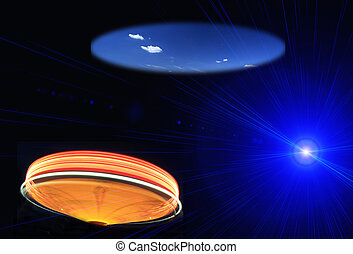Ufo Flying on Earth at night