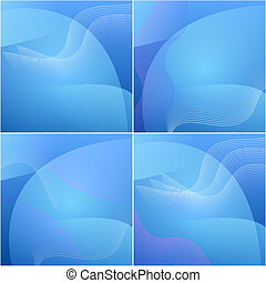 set of colour elegant abstract blue background.