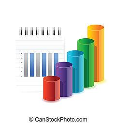 business graph an info illustration design