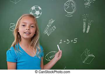 Composite image of school doodles - School doodles against...