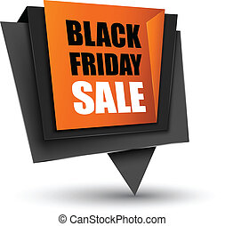 Black Friday sales tag. Vector Illustration, grouped for...