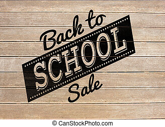 Composite image of back to school sale message - Back to...