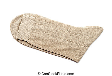 Pair of gray socks isolated on a white background