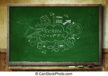 school stuff chalkboard
