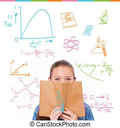 compuesto, imagen, de, matemáticas, y, Ciencia,...