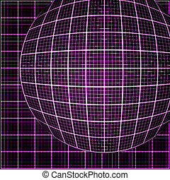 Pink rays light 3D mosaic. - Pink rays light 3D mosaic. EPS...